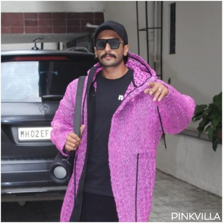 PHOTOS: Ranveer Singh rocks a purple jacket as he gets papped outside Dharma Productions office