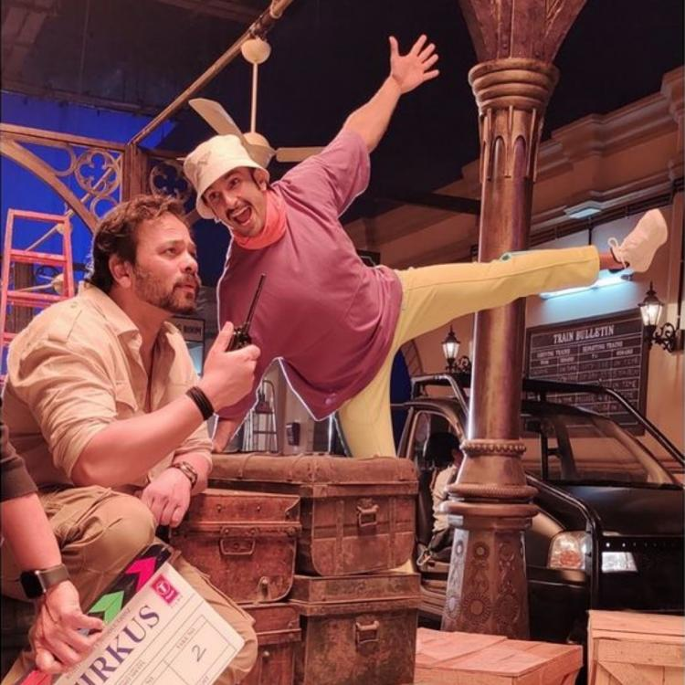 Ranveer Singh is at his quirkiest best as he shares a BTS photo with Rohit Shetty from the sets of Cirkus