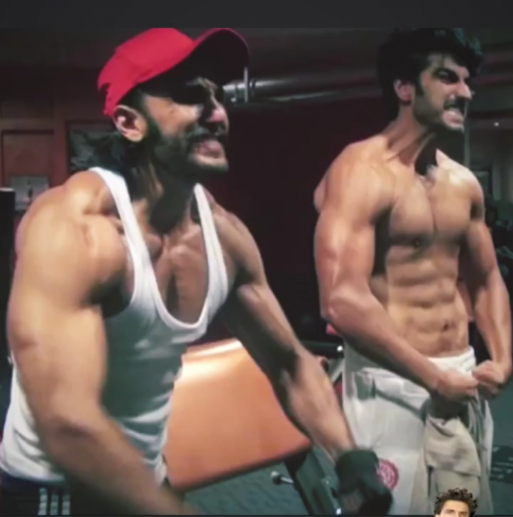 Ranveer Singh and Arjun Kapoor flex their muscles in a THROWBACK photo from Gunday; Check it out
