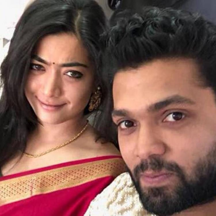 Vijay Deverakonda gives a befitting reply to a reporter who asks Rashmika of her break up with Rakshit Shetty