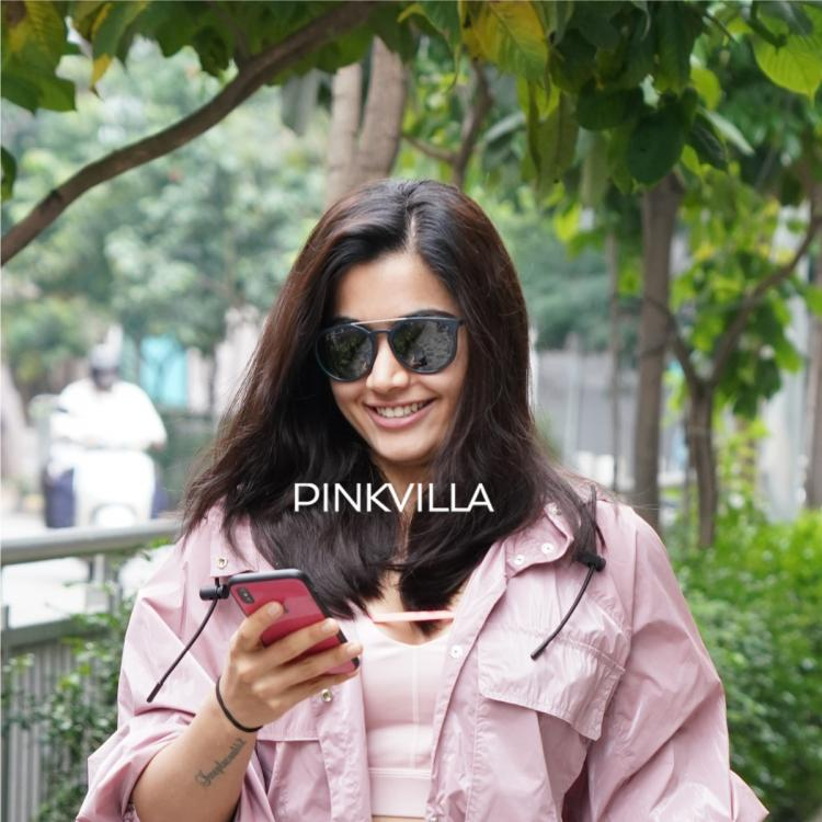 Rashmika Mandanna looks ravishing in pink casual outfit as she poses for shutterbugs; See PHOTOS