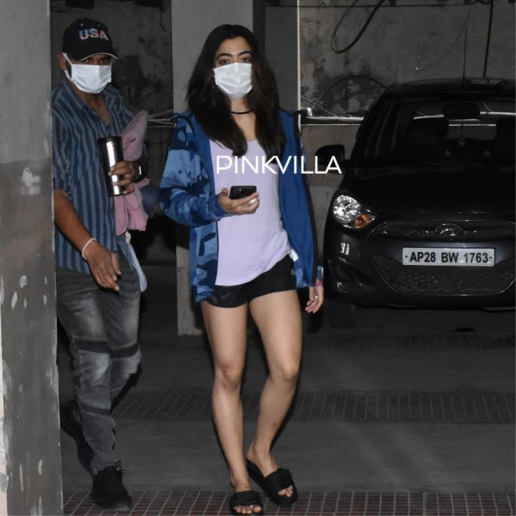Rashmika Mandanna sports a hoodie and shorts as she heads to the gym for her workout routine; PHOTOS