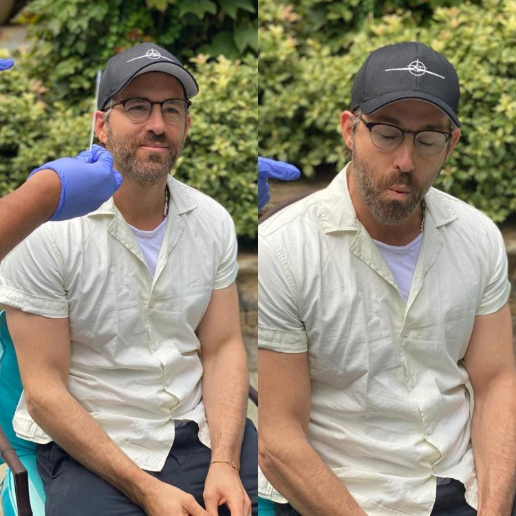 Red Notice star Ryan Reynolds hilariously sums up experience of testing for COVID-19; Blake turns photographer