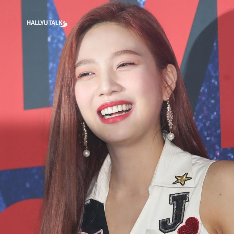 Joy of Red Velvet is smiling at the press conference of the second solo concert 'REDMARE'