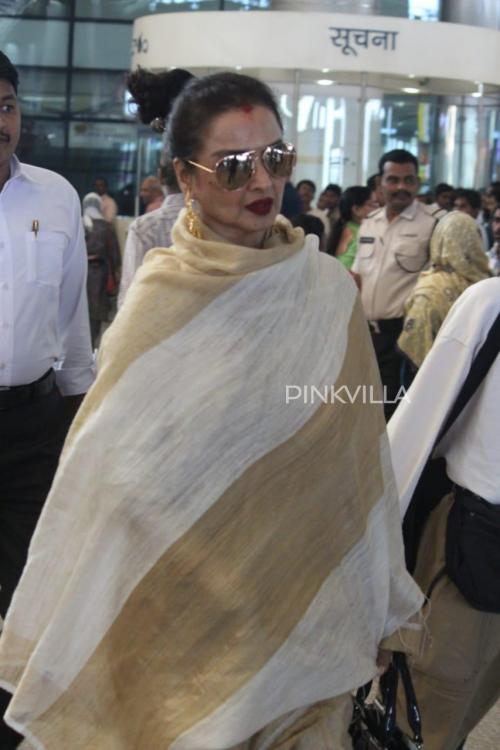 PHOTOS: Rekha and Boney Kapoor spotted at Hyderabad airport as they arrive for ANR Awards