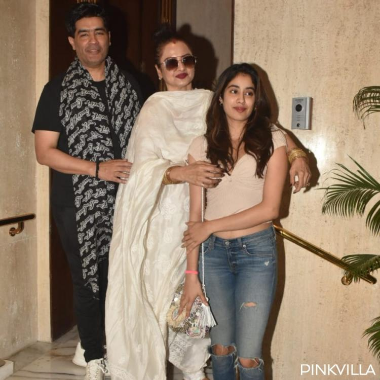 PHOTOS: Janhvi Kapoor and Rekha are all smiles as they pay a visit to Manish Malhotra
