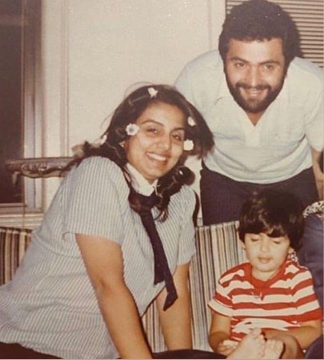 Riddhima Kapoor Sahni revisits an old treasured childhood photo with Rishi Kapoor and Neetu Kapoor