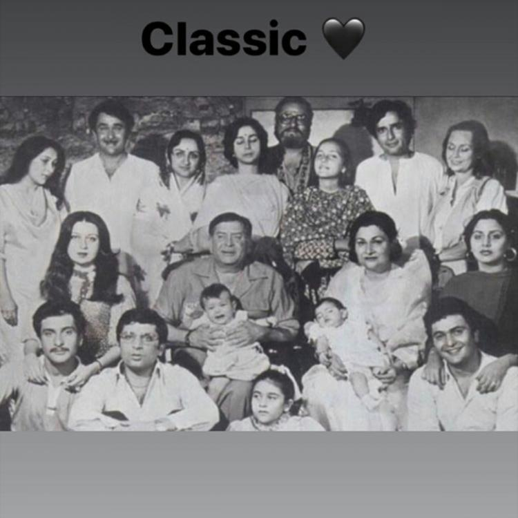 Riddhima Kapoor Sahni takes us down memory lane as she shares a rare picture of the entire Kapoor family