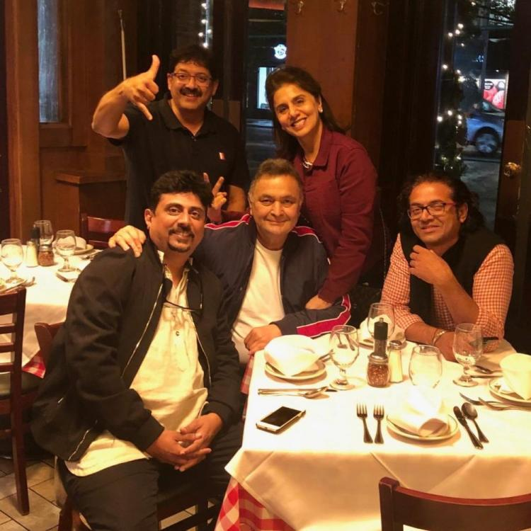 Rishi Kapoor & Neetu Kapoor thank team of 102 Not Out for their love as they get together in New York: See Pic