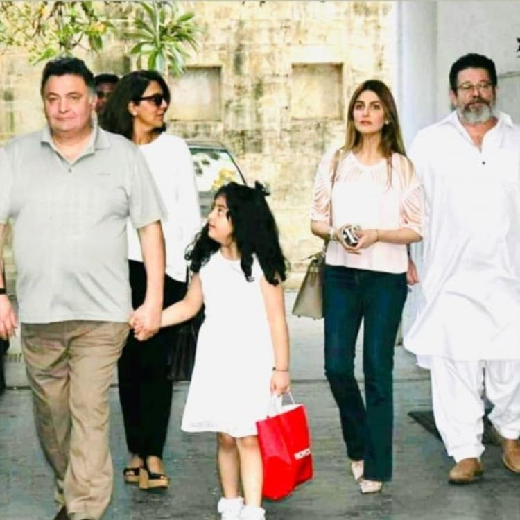 Rishi Kapoor holding onto granddaughter's hand in a throwback photo with Neetu Kapoor, Riddhima is pure gold