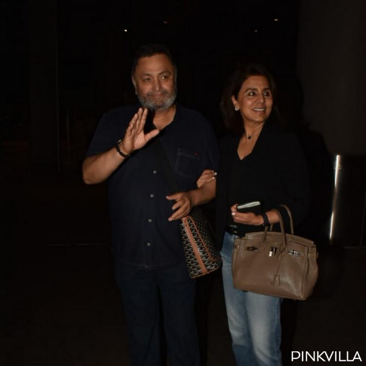 PHOTOS: Rishi Kapoor and Neetu Kapoor are all smiles as they return to Mumbai after almost a year
