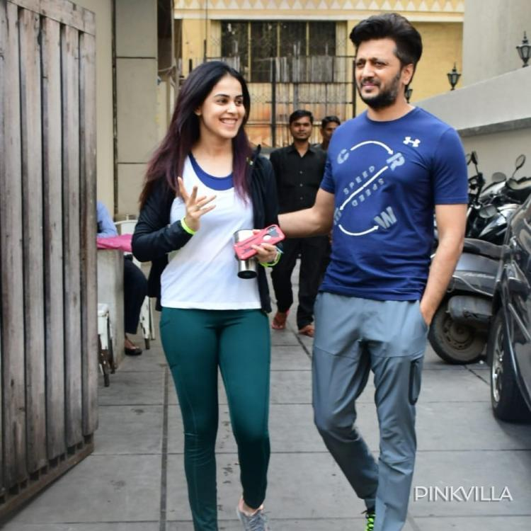 PHOTOS: Riteish Deshmukh & Genelia D'Souza get into their power couple mode as they head to the gym together