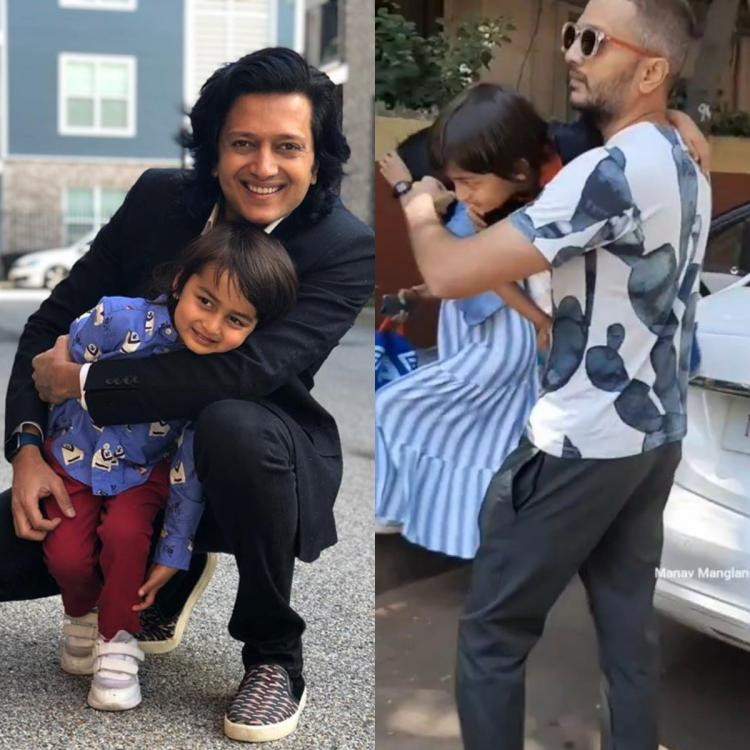 Riteish Deshmukh has father and son time with Rahyl post his school; Watch Video