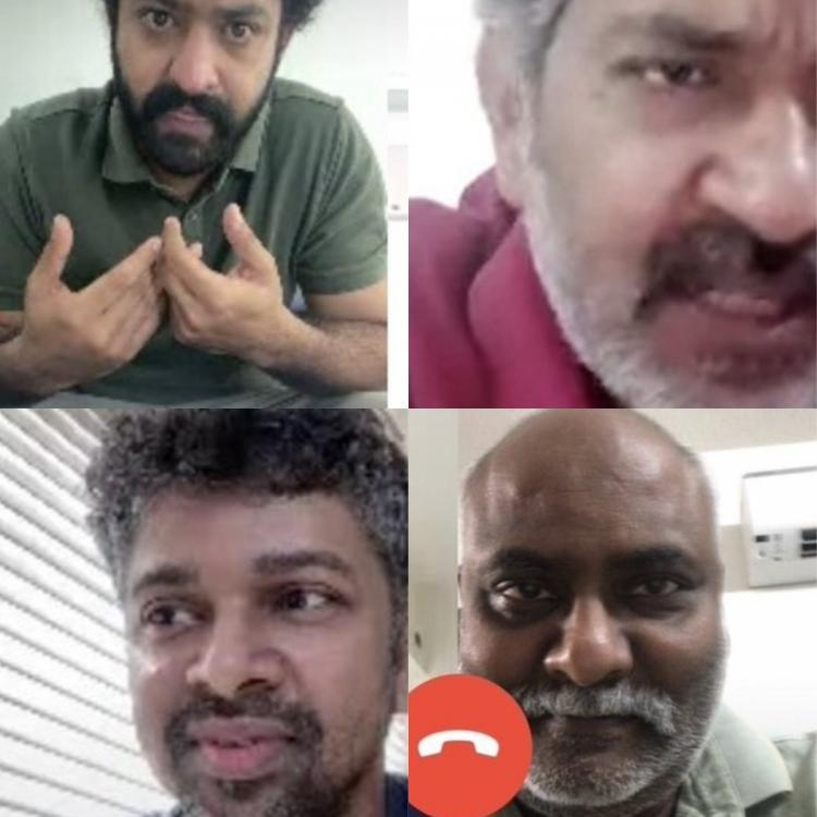 RRR: Jr NTR, SS Rajamouli, MM Keeravani and team work from home via video call; Here's all you need to know
