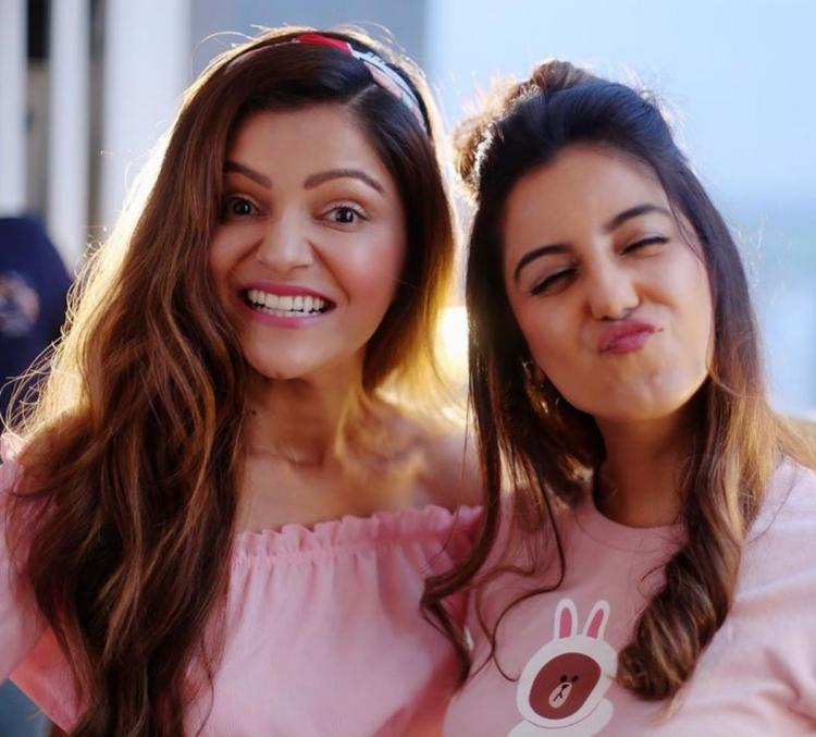Rubina Dilaik gets a send off from friend Srishty Rode