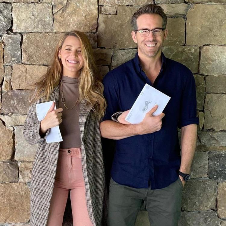 Ryan Reynolds, along with Blake Lively, voted in America for the first time