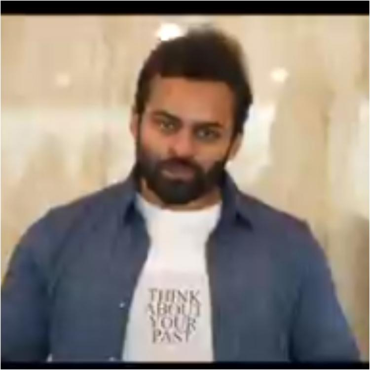 Sai Dharam Tej visits theatres first time after lockdown