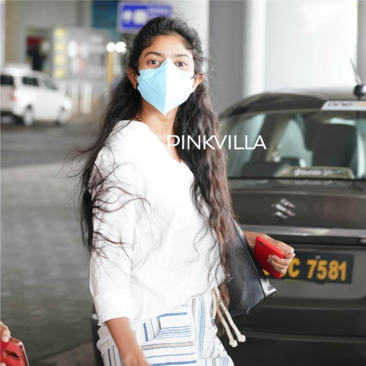 PHOTOS: Sai Pallavi slays in palazzo pants and top as she is spotted at the airport adapting to the new normal