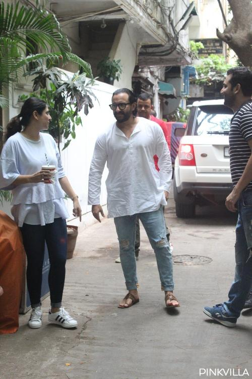 PHOTOS: Saif Ali Khan in a white kurta and ripped jeans looks dapper as he gets snapped in the city