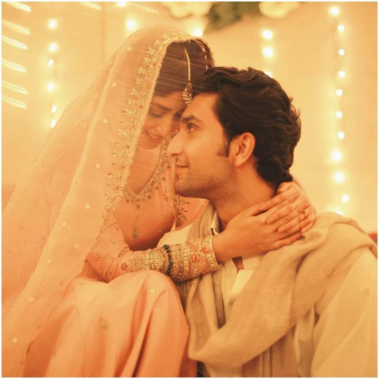 Actress Sajal Ali announces her engagement to boyfriend Ahad Raza Mir; Check out the adorable post
