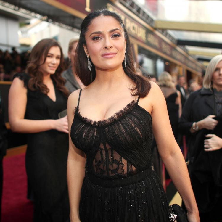 Salma Hayek reacts to claims she married François Pinault for money