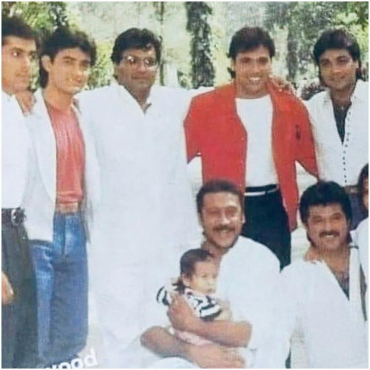 Salman Khan, Aamir Khan pose with Jackie Shroff, Anil Kapoor in THIS old pic but Tiger & Sonam steal the show
