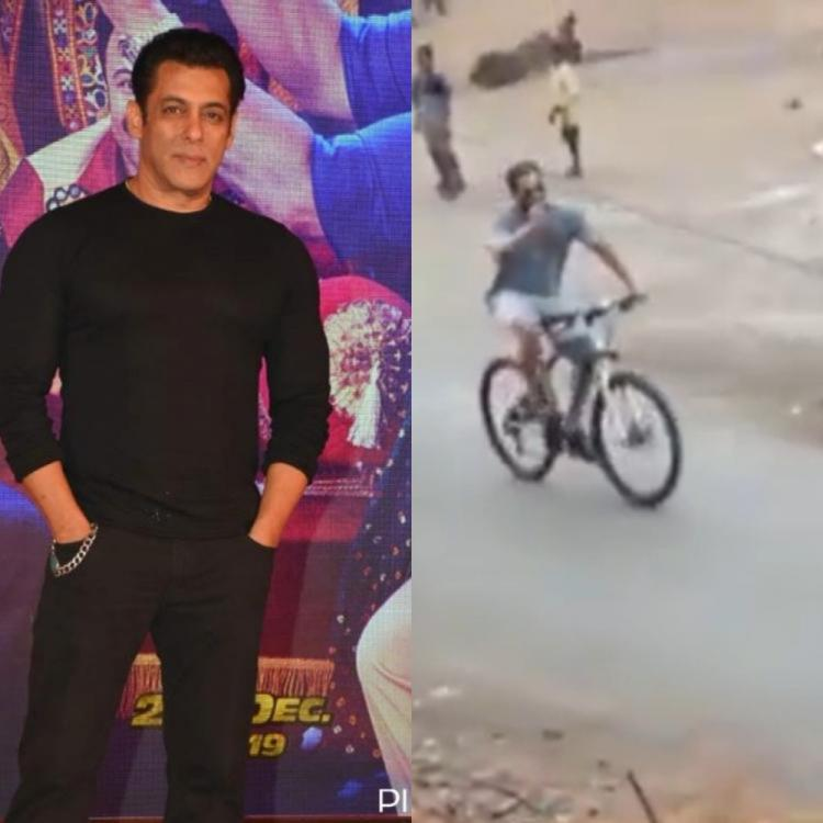 Salman Khan and Jacqueline Fernandez opt to cycle around Panvel to stay fit amid the lockdown; WATCH
