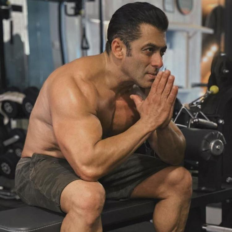 Salman Khan shows his fit body in gym.