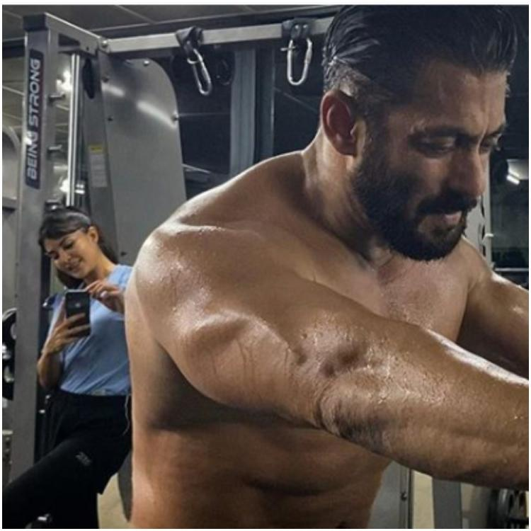 Salman Khan's shirtless click post workout gets photobombed by photographer Jacqueline Fernandez