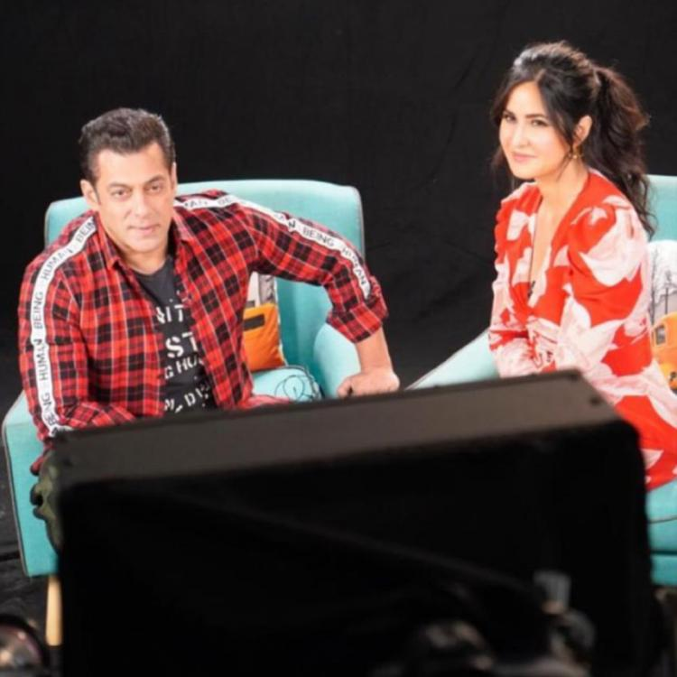 Salman Khan and Katrina Kaif make for a perfect frame in this still from Bharat promotions; check it out