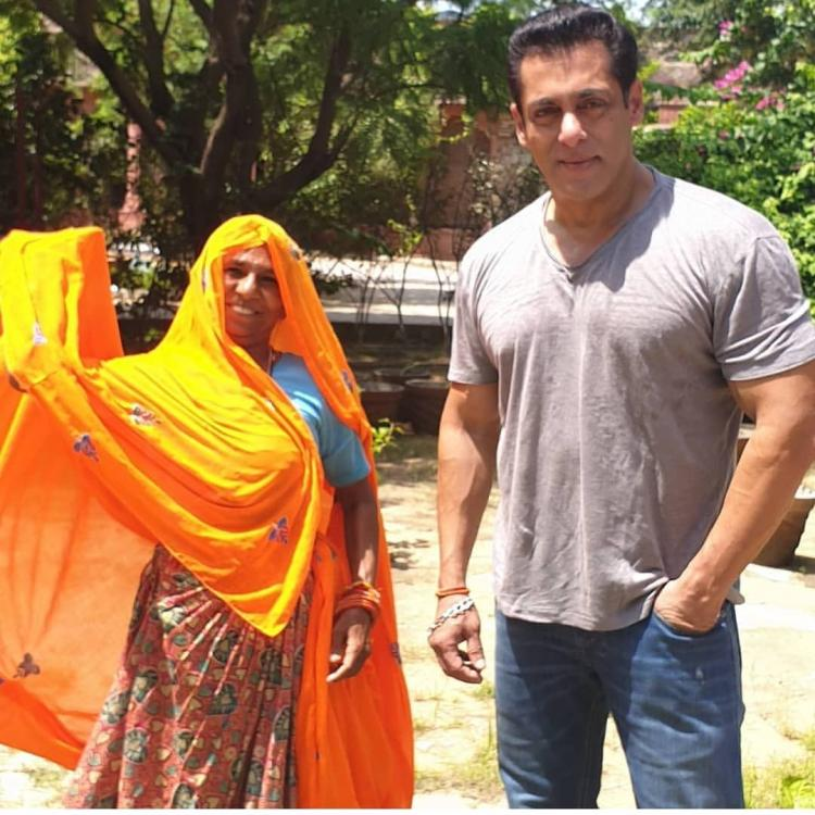 Salman Khan lights up the internet as he poses for a photo with a lady gardener from Jaipur; Take a look
