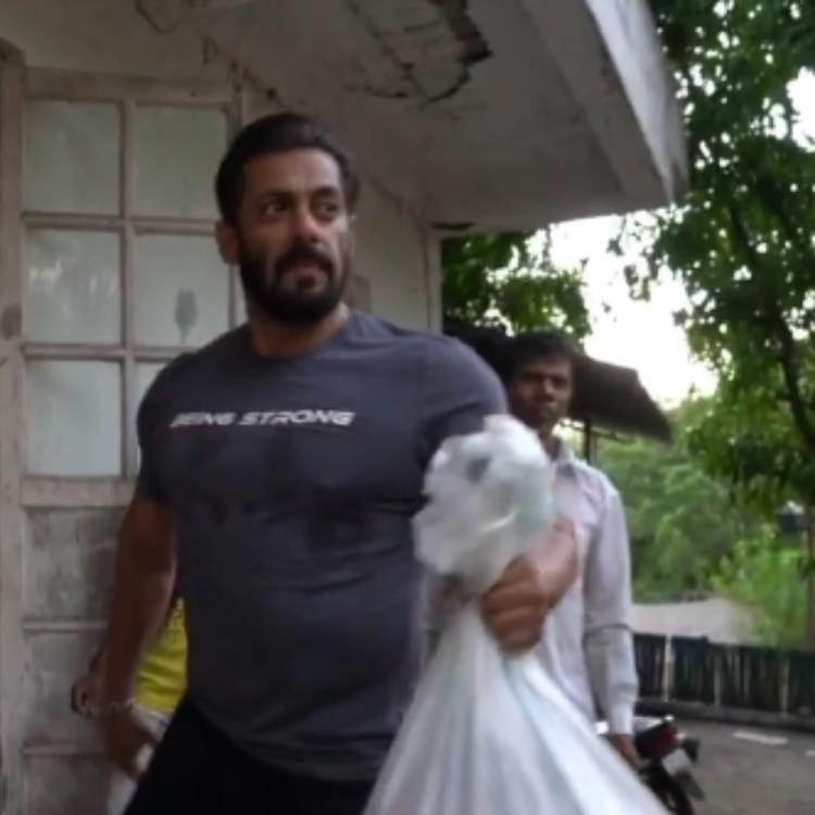 Salman Khan, Jacqueline & others queue up at farmhouse to transfer food ration to trucks for COVID 19 relief
