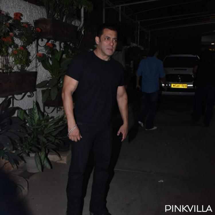 Photos: Salman Khan goes all black in casuals as he attends the special screening of Notebook