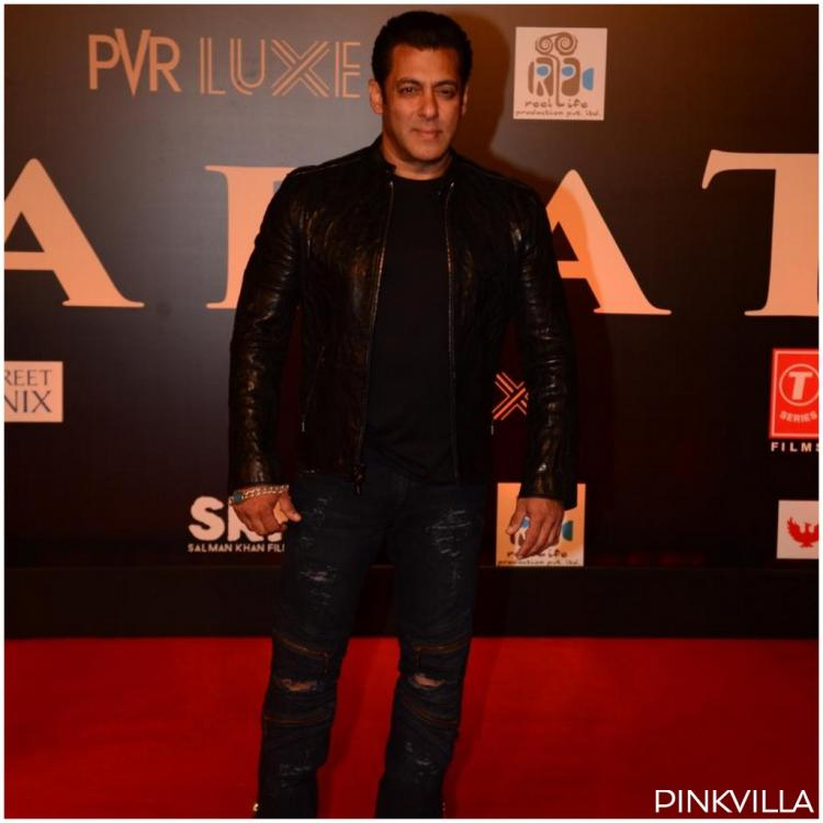 PHOTOS: Salman Khan opts for an all black rugged look at the Bharat premiere