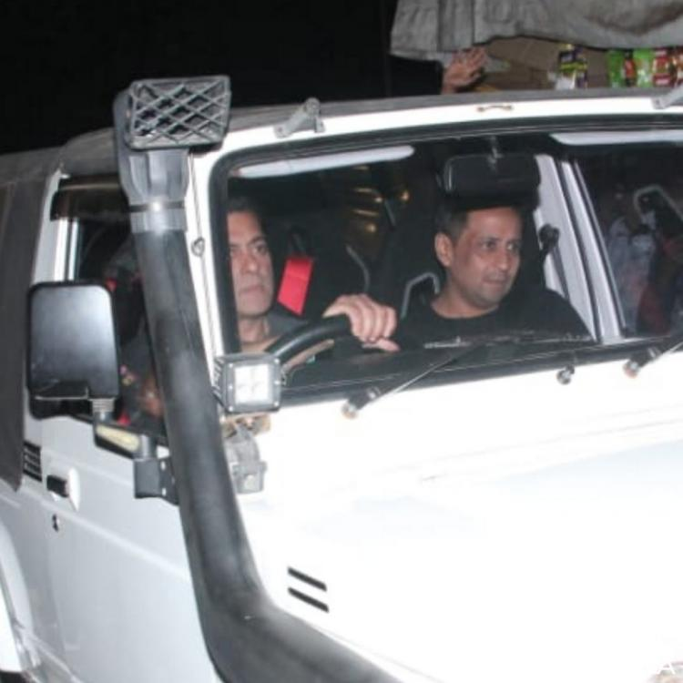 PHOTOS: Salman Khan drives away mid week blues in a jeep as he shoots for Radhe: Your Most Wanted Bhai
