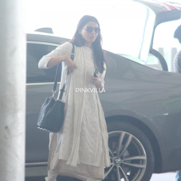 Samantha Akkineni sports Indian ethnic wear as she gets spotted at the Hyderabad airport; View pics