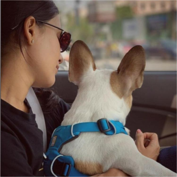 Naga Chaitanya clicks this cutest photo of wife Samantha Akkineni with their pet as they spend Sunday together