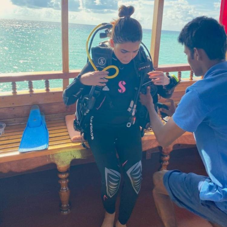 Samantha Akkineni is all set to dive into the sea as she continues enjoying her Maldives vacation; See PHOTO