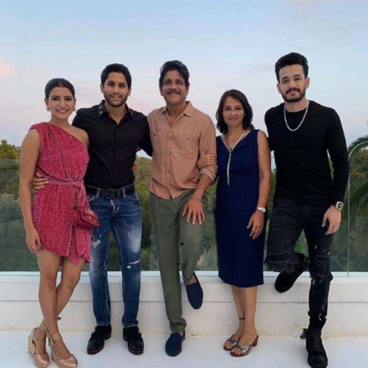 Samantha Akkineni, Naga Chaitanya, Nagarjuna & others are all smiles in this perfect throwback family PHOTO