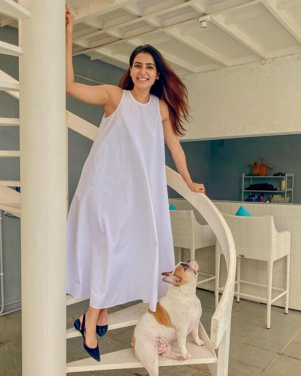 Samantha Akkineni shares her look in breezy white summer dress but her caption for Hash is a show stealer