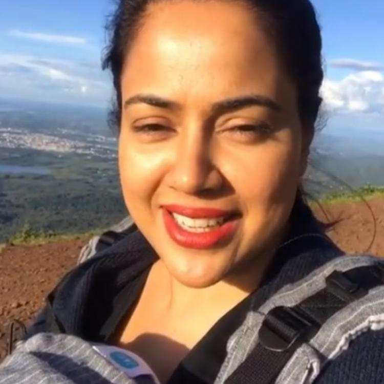 Sameera Reddy shares her experience as she tries to climb the Mullayanagiri Peak with daughter Nyra; WATCH