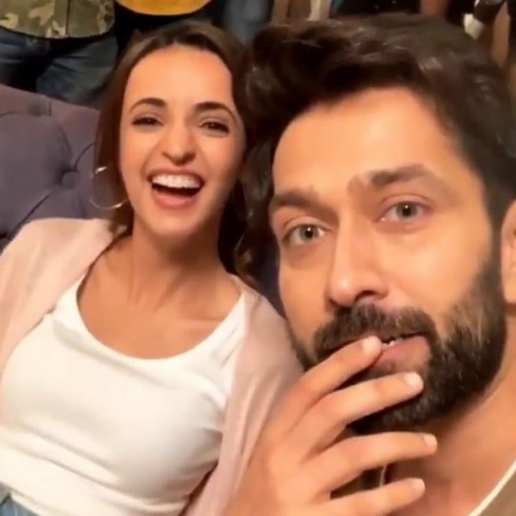 Sanaya Irani and Nakuul Mehta's fun banter as they shoot for their FIRST project will make you go ROFL; WATCH