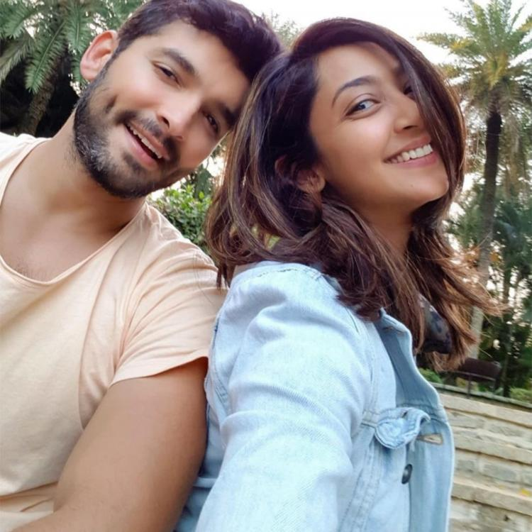 Sandalwood Drug Scandal Diganth Manchale and Aindrita Ray arrive at CCB's Bengaluru office