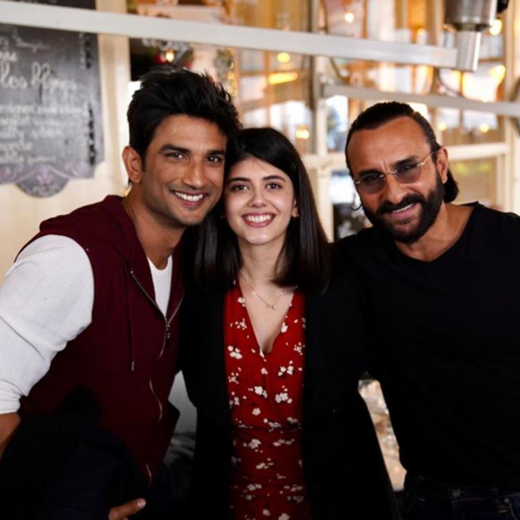 Sanjana Sanghi wishes Saif on birthday by sharing snap with Sushant Singh Rajput: Sandwiched between gentlemen