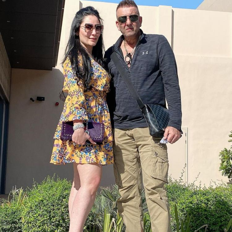 Sanjay Dutt poses for a photo with wife Maanayata Dutt