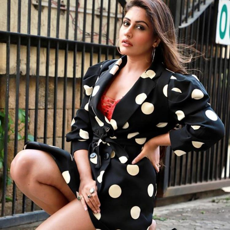 Sanjivani star Surbhi Chandna turns up the heat in a polka dotted blazer dress and we're in complete awe