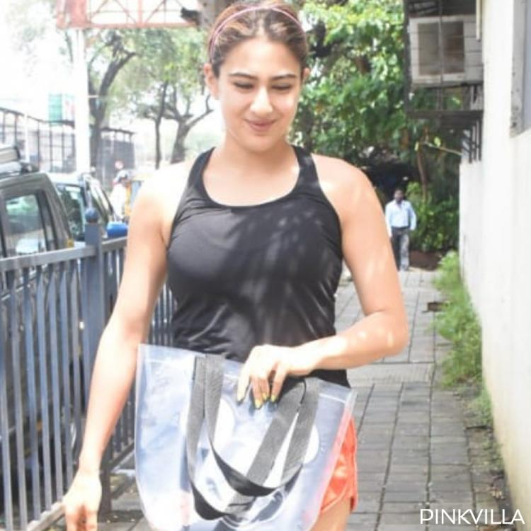 PHOTOS: Sara Ali Khan opts for jogger shorts & tee as she heads for dance rehearsals