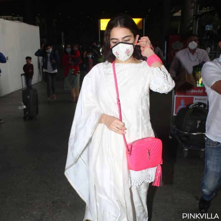 PHOTOS: Sara Ali Khan stuns a white suit as she lands in Mumbai after celebrating New Year with BFFs