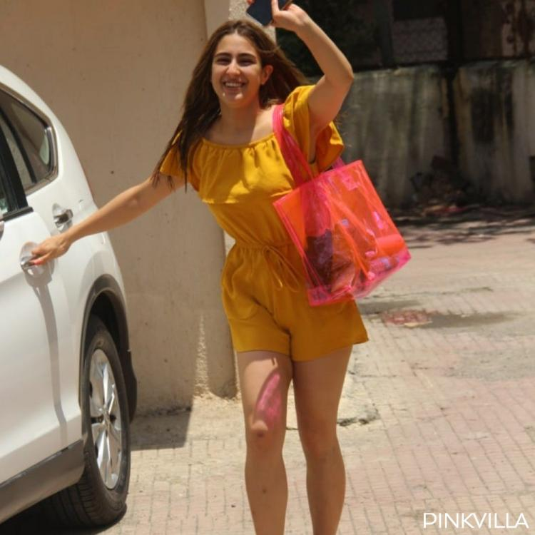 PHOTOS: Sara Ali Khan slays in a romper as she walks into the weekend post her gym session