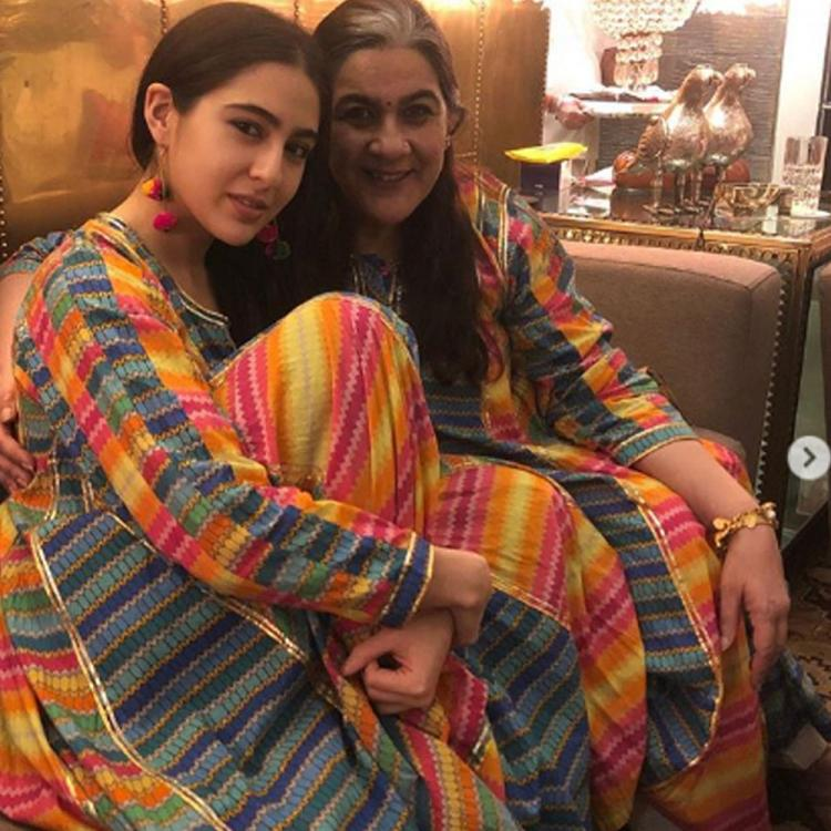 Sara Ali Khan twins with Amrita Singh as they enjoy a day out together during COVID 19 outbreak
